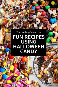 Wondering what to do with leftover Halloween candy and chocolates? Turn them into sweet and tasty desserts and treats with these mouth-watering recipes! Fun to make, even funner to eat! #halloween #halloweentreats #halloweenrecipes