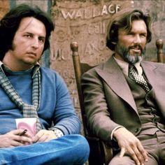 Michael Cimino & Kris Kristofferson on the set of Heaven's Gate