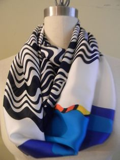 25 OFF Black Friday SALE Ocean Waves infinity scarf by Olimpias, $60.00