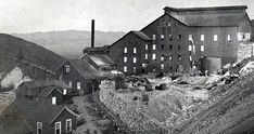 """Cyanide mill for treating Delamar's gold ores (photo circa 1898-1905). With insufficient water for wet-processes, instead, Delamar's mills used dry Griffin mills to crush the highly silicified ore, spewing clouds of dust over town. The result was one of the highest rates of silicosis (aka, miner's lung--a debilitating pulmonary disease that usually led to death by suffocation) anywhere in the western US, earning Delamar its unfortunate nickname, """"The Widowmaker."""""""