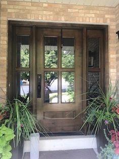 This garage door design is unquestionably an impressive style construct. Garage Door Styles, Garage Door Design, Front Door Design, Garage Doors, Barn Garage, Craftsman Front Doors, Wood Front Doors, Glass Front Door, Craftsman Door Exterior