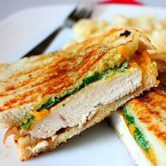 Pesto Chicken Sandwich- would be yummy with Morningstar Farms chik'n patties