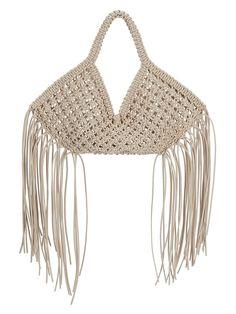 Macrame Bag, Basket Bag, Best Bags, Summer Bags, Fringe Trim, Purses And Bags, Knit Crochet, Knitting, Pattern