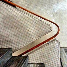 #mulpix I love this detail - bent wood hand rail  #gioponti  #italiandesign  #design  #italiandesignhero  #midcentury  #minimalism  #architecture  #architectural  #details  #interiors  #interiordesign  #inspiration  #colour  #staircases  #stairs
