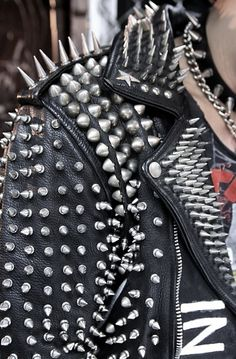 Memories of shell-like leather biker jackets and screwing spikes onto EVERYTHING!