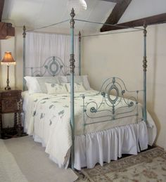 Cast+iron+beds | King Size Cast Iron Four Poster Bed