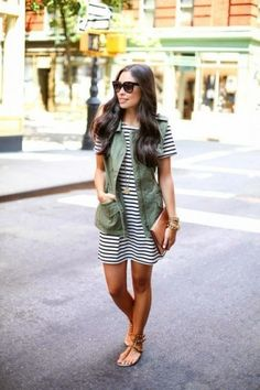 18 Khaki Spring Newest Fashion Trend 2015, Ready To Wear, Spring Casual Outfit, Khaki Vest (4)