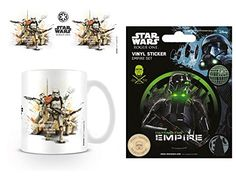 Set Star Wars Rogue One Stormtrooper Profile Photo Coffee Mug 4x3 inches And 1 Star Wars Sticker Adhesive Decal 5x4 inches * To view further for this item, visit the image link.
