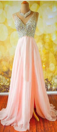 Top Selling Long Pink Prom Dresses,Beading Prom Dresses,V-neck Prom Dresses ,Modest Prom Dresses,Evening Dresses Split Prom Dresses, Prom Dresses Long Pink, Prom Dresses For Teens, V Neck Prom Dresses, Beaded Prom Dress, Modest Dresses, Dance Dresses, Pretty Dresses, Homecoming Dresses