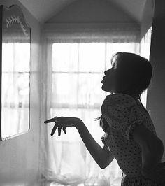 Carly Making Like Mick, by Peter Simon