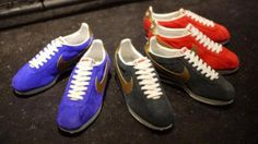 NIKE CLASSIC CORTEZ VINTAGE MARINE & ANTHRACITE & RED #sneaker