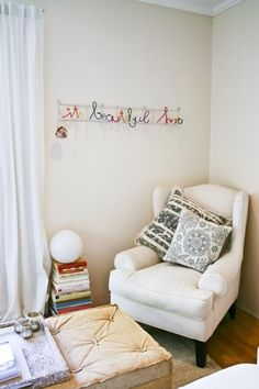 reading corner - this is exactly what I'm planning on adding to my room!