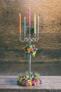 I love the colours, gives a fun twist to traditional wedding decor. Wedding Ceremony Ideas, Wedding Themes, Wedding Colors, Wedding Events, Wedding Flowers, Wedding Day, Trendy Wedding, Crafty Wedding Ideas, Rainbow Wedding Decorations