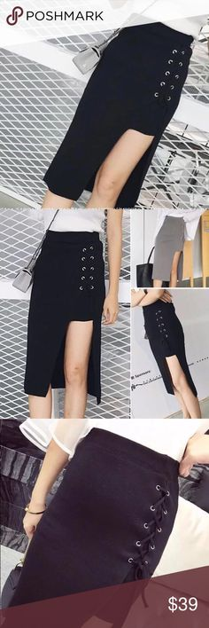 NEW IN cross midi skirt  NEW IN cross midi skirt  stretchy midi skirt with the trendy cross element on the side! Best for work and casual wear  comfy but at the same time very stylish  Skirts Midi