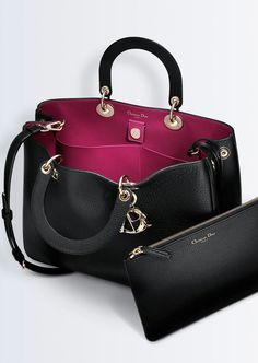 An amazing purse to pair with Perlae Couture's Black and White Cocktail Dress with Applique is Dior's large 'DIORISSIMO' bag.
