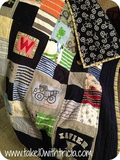 Baby clothes quilt - Great way to save baby clothes without having to store in box out of plain sight, cherish the memories!