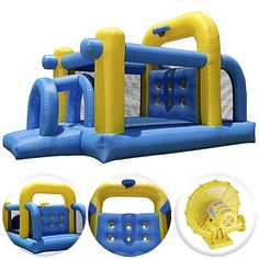 Cloud 9 Tunnel Course Bounce House - Inflatable Bouncer Climbing Obstacle with Basketball Hoop by Cloud 9 Bouncers, $340.00