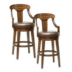 Hillsdale Upton Swivel Bar Stool and Counter Stool - BedBathandBeyond.com