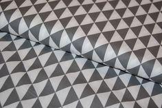Bavlněná látka : Triangles - Antracit Triangles, Triangle Shape