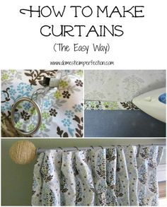 How to make curtains - Domestic Imperfection