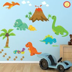 Found it at Wayfair - Dinosaur World Fabric Printed Wall Decal
