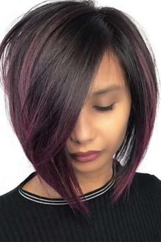 Long A-Line Haircut with Side Bangs picture2