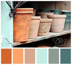 Image result for grey & terracotta color scheme