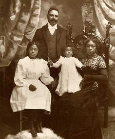 FAMILY MATTERS | THE BLACK VICTORIANSWilliam T. Shorey (1859-1919), famous whaling captain, and his family, San Francisco, CA. Late 1800s