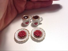 Miniature coffe scene/ Miniature pastry/ miniature cake/ miniature bakery/ 1/12 scale, handmade/ doll house cake/ dollhouse coffee scene by SparkleWithMeSweden on Etsy