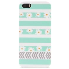 With Love From CA Daisy Striped iPhone 5/5S Case found on Polyvore