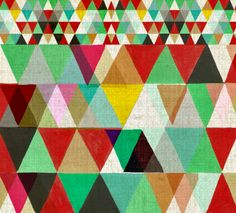 geometric : triangle : Print by Kristina Sostarko and Jason Odd- designers behind Inaluxe
