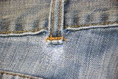 How to fix a broken belt loop: I am constantly pulling up my pants because I can't find any jeans that fit me well in the waist and and my rear.  I don't like really tight around either. I have a habit of pulling by the belt loops and the same loop on all my pants break. I'm so glad I found this!