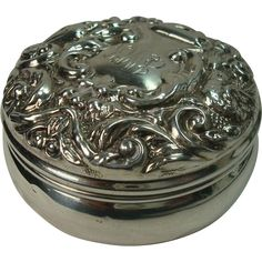 Continental+Sterling+Bird+and+Acanthus+Pill+Box