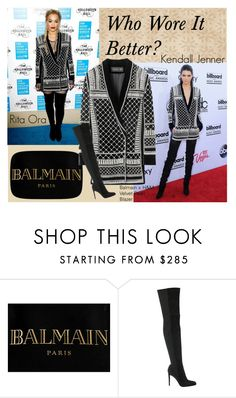 """""""Who Wore It Better?"""" by teennetwork ❤ liked on Polyvore featuring moda, Balmain i Gianvito Rossi"""