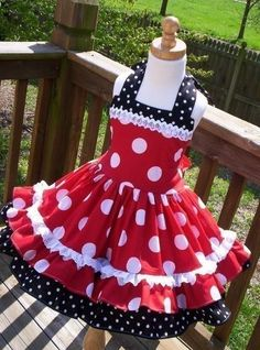 Items similar to Custom Boutique Minnie Dot Dress Halter Mouse Vacation Cruise Disney Fabric Twirl Mickey Princess HTF OOP 2 3 4 5 6 on Etsy Baby Girl Party Dresses, Little Girl Dresses, Girls Dresses, Baby Dress Design, Frock Design, Kids Dress Patterns, Dress Anak, Kids Frocks, Custom Dresses