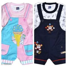 Clothing Sets Elegant Printed Kid's Clothing Sets(Pack Of 2) Fabric: Cotton Hosiery Sleeves:Sleeves Are Included Size: Age Group (0 Months - 6 Months) -12 in Age Group (6 Months - 12 Months) -14 in Age Group (12 Months - 18 Months) -16 in Age Group (18 Months - 24 Months) -18 in Type: Stitched Description: It Has 2 Pieces Of Kid's Top & 2 Pieces Of Kid's Bottom Work: Printed/Embroidered Country of Origin: India Sizes Available: 0-6 Months, 6-12 Months, 12-18 Months, 18-24 Months   Catalog Rating: ★4.2 (508)  Catalog Name: Cute Elegant Printed Kids Clothing Sets Vol 7 CatalogID_217304 C59-SC1182 Code: 546-1666640-7371