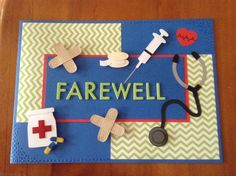 Handmade Farewell Card For a Nurse