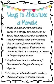 1000 ideas about memoir writing on pinterest writing mentor texts and personal narratives. Black Bedroom Furniture Sets. Home Design Ideas