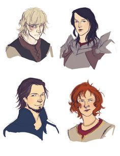 Cole, Evangeline, Rhys & Adrian from Dragon Age Asunder