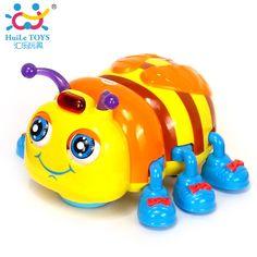 Novos Brinquedos Do Bebê Infantil Crawl Brinquedo Abelha Joaninha Besouro Elétrico Brinquedos Elétricos com Música & Luz Crianças Brinquedo Educativo Interativo