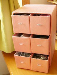 Organizacion con cajas de zapatos...con estilo