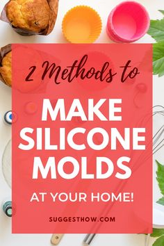 Do you want to make silicone molds at home but don't know how? Learn how to make Silicone Molds DIY for resin, baking or crafts with my 2 easy silicone molds recipes. Diy Resin Mold, Diy Resin Art, Diy Epoxy, Diy Resin Crafts, Ice Resin, Resin Molds, How To Make Silicone, Diy Silicone Molds, Resin Jewelry Making