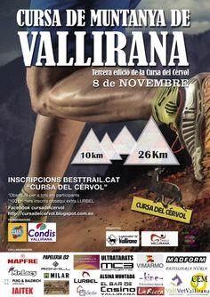 El proper 8 de novembre tindrpa lloc la 3ª edició de la cursa del Cèrvol de Vallirana. Dues de dstàncies: 10km i 26km. Apunta-t'hi!