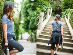 Look 1: Take the Stairs Travel Happy Travel Light with Crystalin Marie and lucy Activewear