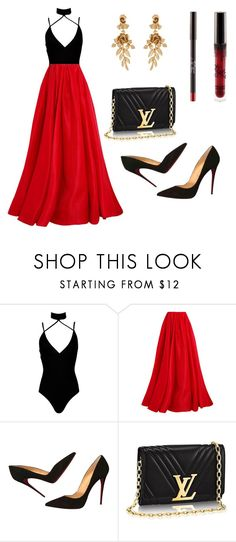 """Untitled #326"" by lilia-dashevsky ❤ liked on Polyvore featuring Boohoo, Reem Acra, Christian Louboutin and Oscar de la Renta"