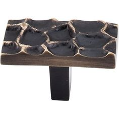 Top Knobs TK303 Cobblestone 1-3/4 Inch Long Rectangular Cabinet Knob