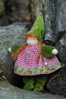 Poppenatelier Severine: Een kaboutermeisje/A gnomegirl
