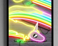 Adventure Time Lumpy Space Princess Neon Print by ArteRKL on Etsy