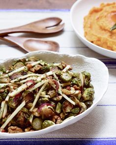 Brussels sprout and apple salad with cider vinaigrette