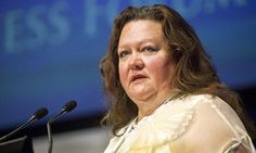 Economy drive … Gina Rinehart. Photograph: Ron D'Raine/Bloomberg via Getty Images